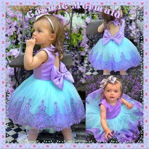 Other - 🦋Pastel Purple & Blue💖Lace Bow Back Tutu Dress🦋